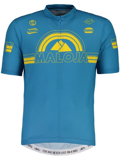 Maloja PlajetM. Short Sleeve Bike Jersey Men river